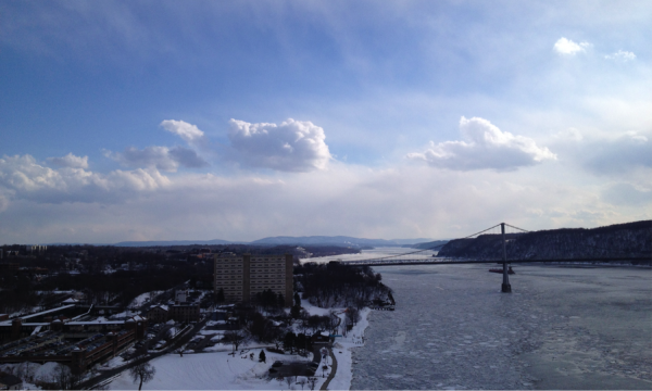 Looking towards the Hudson Highlands on a cold March morning walk.